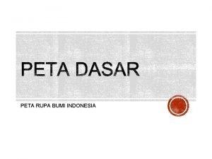 PETA RUPA BUMI INDONESIA MEMBACA MENGGUNAKAN PETA RBI
