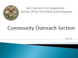 San Francisco Fire Department Bureau Of Fire Prevention