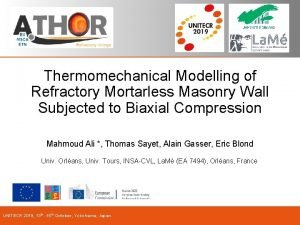 Thermomechanical Modelling of Refractory Mortarless Masonry Wall Subjected
