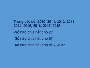 Trong cc s 2010 2011 2012 2013 2014