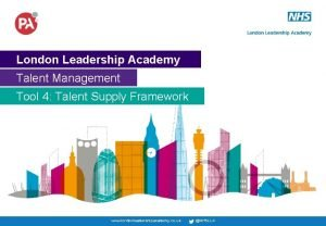 London Leadership Academy Talent Management Tool 4 Talent