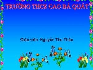 Gio vin Nguyn Thu Tho Kim tra bi
