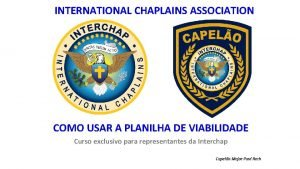 INTERNATIONAL CHAPLAINS ASSOCIATION COMO USAR A PLANILHA DE
