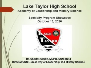 Lake Taylor High School Academy of Leadership and