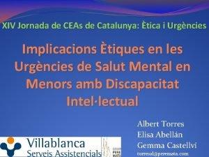 XIV Jornada de CEAs de Catalunya tica i