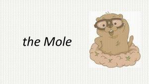 the Mole What is a mole A mole