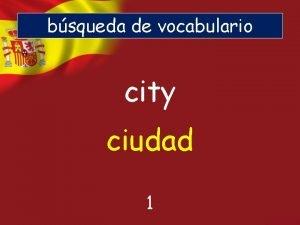 bsqueda de vocabulario city ciudad 1 bsqueda de