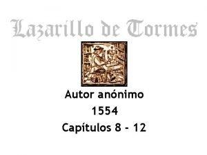 Autor annimo 1554 Captulos 8 12 Temas Captulos