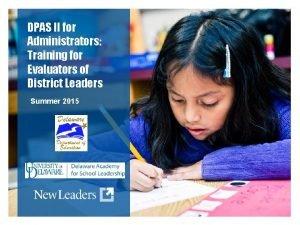 DPAS II for Administrators Training for Evaluators of