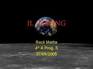 IL LEASING Recli Mattia 4 A Prog 5