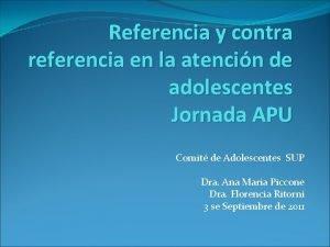 Referencia y contra referencia en la atencin de