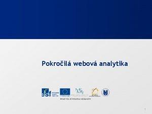Pokroil webov analytika 1 Webov analytika pro pokroil