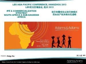 LES ASIA PACIFIC CONFERENCE HANGZHOU 2013 LES 2013