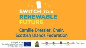 Camille Dressler Chair Scottish Islands Federation Wyspy Szkockie