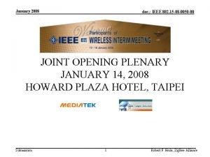 January 2008 doc IEEE 802 15 08 0050