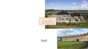 Bath Arianna Lulli Bath una citt del Regno