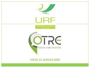 VUX 21 JANVIER 2020 Union routire de France