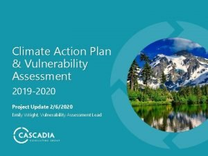 Climate Action Plan Vulnerability Assessment 2019 2020 Project