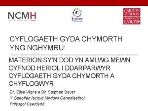 CYFLOGAETH GYDA CHYMORTH YNG NGHYMRU MATERION SYN DOD