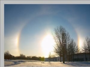 Sun dogs or mock suns are technically called