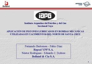 Bolland Instituto Argentino del Petrleo y del Gas