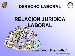 DERECHO LABORAL RELACION JURIDICA LABORAL aboettigudec cl www