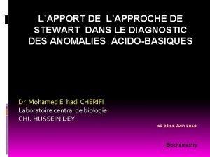 LAPPORT DE LAPPROCHE DE STEWART DANS LE DIAGNOSTIC