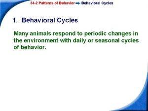 34 2 Patterns of Behavioral Cycles 1 Behavioral