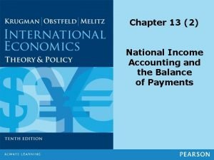 Chapter 13 2 National Income Accounting and the