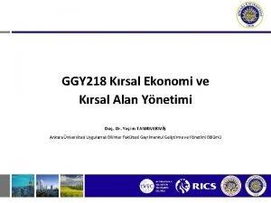 GGY 218 Krsal Ekonomi ve Krsal Alan Ynetimi