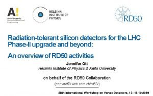 Radiationtolerant silicon detectors for the LHC PhaseII upgrade