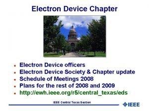 Electron Device Chapter l l l Electron Device