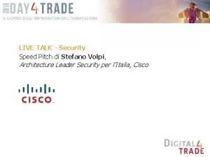 LIVE TALK Security Speed Pitch di Stefano Volpi