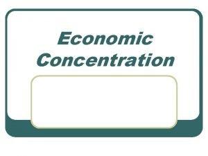Economic Concentration Competition Law l Jordans Competition Law