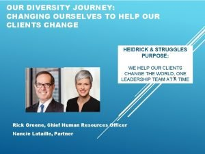 OUR DIVERSITY JOURNEY CHANGING OURSELVES TO HELP OUR
