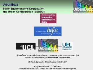 Urban Buzz SocioEnvironmental Degradation and Urban Configuration SEDUC