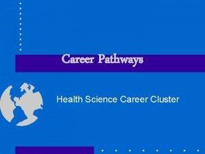 Career Pathways Health Science Career Cluster Objectives Define