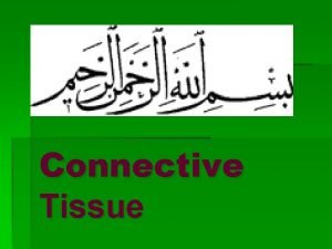 Connective Tissue Connective tissue may be defined as