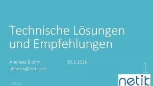 Technische Lsungen und Empfehlungen Andreas Blohm ablohmnetik de