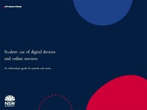 NSW Department of Education Student use of digital