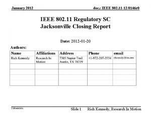 January 2012 doc IEEE 802 11 120146 r