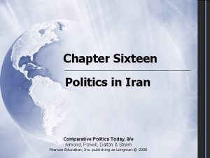Chapter Sixteen Politics in Iran Comparative Politics Today