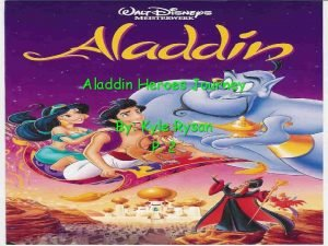 Aladdin Heroes Journey By Kyle Rysan P 2