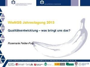 Wie NGS Jahrestagung 2013 Qualittsentwicklung was bringt uns