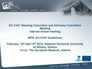 EUCHIC Steering Committee and Advisory Committee Meeting Internal