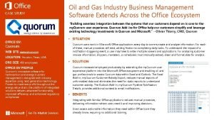 Oil and Gas Industry Business Management Software Extends