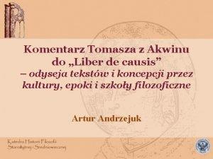 Komentarz Tomasza z Akwinu do Liber de causis