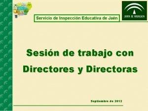 Servicio de Inspeccin Educativa de Jan Sesin de