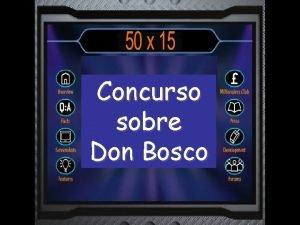 Concurso sobre Don Bosco Cundo nace Don Bosco