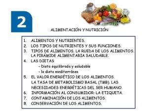 ALIMENTACIN Y NUTRICIN 1 2 3 4 5
